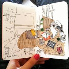 interview championing drawing in lebanon judy sketchbook