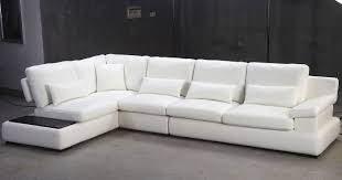 White Leather Sectional Sofas Tosh Furniture Tos Fy930 White Leather Sectional Sofa Flap Stores