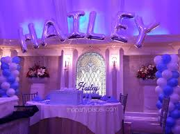 sweet 16 party decorations themed sweet 16 thepartyplaceli sweet
