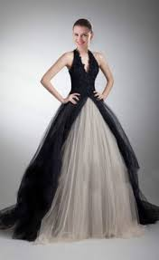 black wedding dress buy gorgeous a line v neck halter black wedding dress from cheap