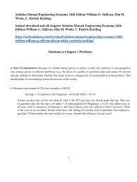 solution manual engineering economy 16th edition william g