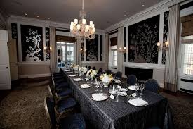 dining room walls dining room amazing long black dining table cover looks elegant