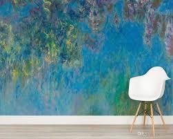 custom wallpaper wisteria by monet wall mural for living room