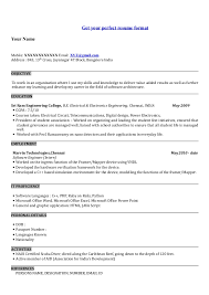 Job Title For Resume by Professional Resume Format For Fresher Engineer Sample Resumes