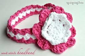 baby girl crochet crochet seed stitch baby headband free crochet pattern my