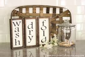 Laundry Room Decor Signs by Wash Dry Fold Signs Laundry Room Signs Rustic Wooden Laundry