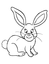 Cute Rabbit Coloring Page Free Printable Coloring Pages Free Bunny Rabbit Colouring Page
