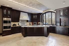 kitchen design marvelous black wood cabinet dark tile flooring