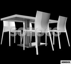 restaurant dining table u0026 chairs 3d model furniture set sohocg