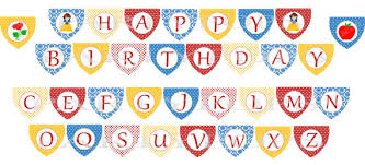 similar digital snow white birthday banner printable
