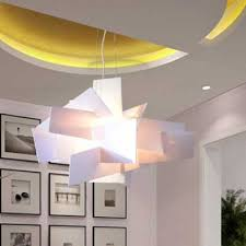 Acrylic Ceiling Light White Acrylic Novel Suspension Pendant Light Beautifulhalo