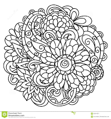 background with line flowers for coloring stock vector