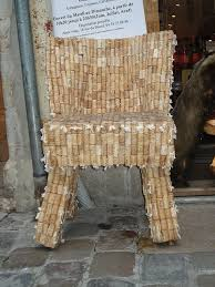 a cork chair on the streets of lyon france