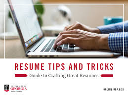 guide to create resume resume tips and tricks guide to crafting create resumes uga