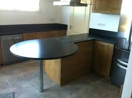 table cuisine plan de travail plan de travail cuisine arrondi table bar central lzzy co