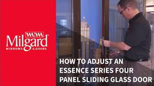 sliding glass doors san diego how to adjust an essence series four panel sliding glass door