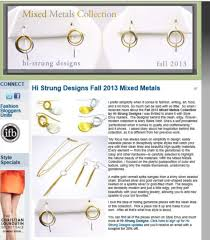 mixed metals collection hi strung designs jewelry by mary blaire