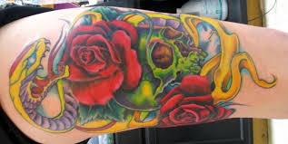 skull and snake tattoo by jasonrhodekill on deviantart