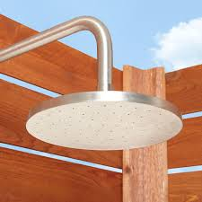 Outdoor Showers Fixtures - stainless steel exposed outdoor shower outdoor