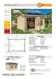the alex 44mm log cabin u2013 3 0m x 2 5m u2013 under 2 5m high u2013 garden