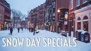 snow day specials tuesday march 14 2017 boston restaurant