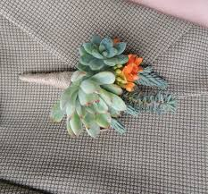 Wedding Boutonnieres Wedding Boutonniere Craig Urban Succulents