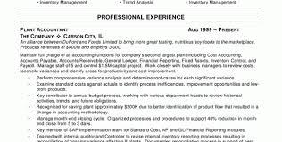 sample senior accountant resume accounting professional resume
