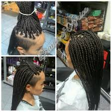 braids with bald hair at the bavk box braids hair extensions with shaved sides pinteres