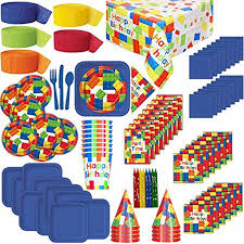 birthday party supplies lego themed birthday party supplies for 8 plates cups napkins