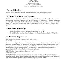 entry level medical assistant resume samples samples of entry