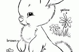 easter bunny coloring shows cute bunny color
