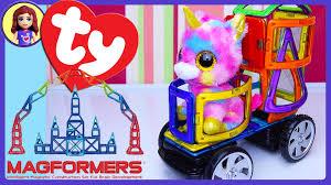unikitty beanie boo unicorn remote control magformer car build fun