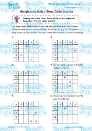multiplication grids times tables practise teach my kids