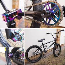 our demo bike fully equipped with our rainbow finish components