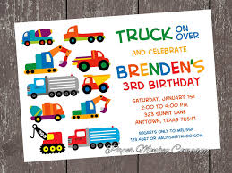 truck birthday invitations u2013 frenchkitten net