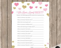 who knows best baby shower who knows best baby shower pink hearts baby