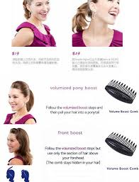 clip snip hair styles popular hair styling clip women volume boost comb black coffee