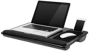 best lap desk for gaming amazon com lapgear xl deluxe laptop lap desk black carbon