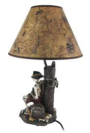 Table Lamp Shades by Pirate Skeleton W Treasure Table Lamp W Shade Amazon Com