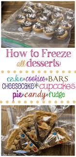 how to freeze desserts for crust