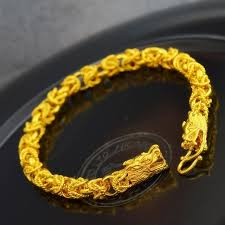 classic link bracelet images Double dragon head link bracelet 8 26 quot yellow gold filled classic jpg