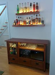 Folding Home Bar Cabinet Liquor Cabinet Made From An Old Tv Unit Home And Yard