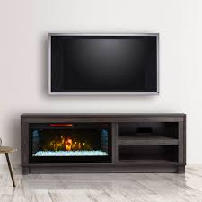 cameron electric fireplace tv stand in grey cs 28mm1030 gry
