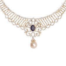 gold har set evgenia designer diamond necklace raj jewels