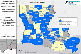 Parish Map Of Louisiana Health Professional Shortage Area Maps Louisiana Department Of