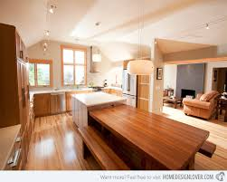 kitchen island with table built in 15 lovely built in kitchen tables tables kitchens and kitchen dining