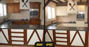 repeindre cuisine en bois repeindre sa cuisine en bois awesome meuble cuisine repeint avant