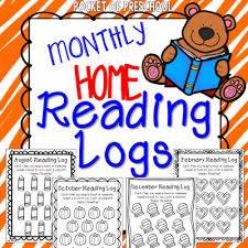 reading logs u0026 parent letter homework for preschoolers pocket