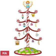 2017 hallmark season s treatings mini tree with 12 ornaments ebay