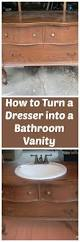 Using Kitchen Cabinets For Bathroom Vanity Associated Fugues Converting An Old Dresser Into A Bathroom Vanity